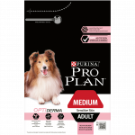 PRO PLAN MEDIUM ADULT SENSITIVE SKIN AVEC OPTIDERMA RICHE EN SAUMON - 3 KG -